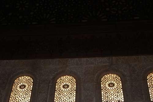 Window Moorish Palace Architecture