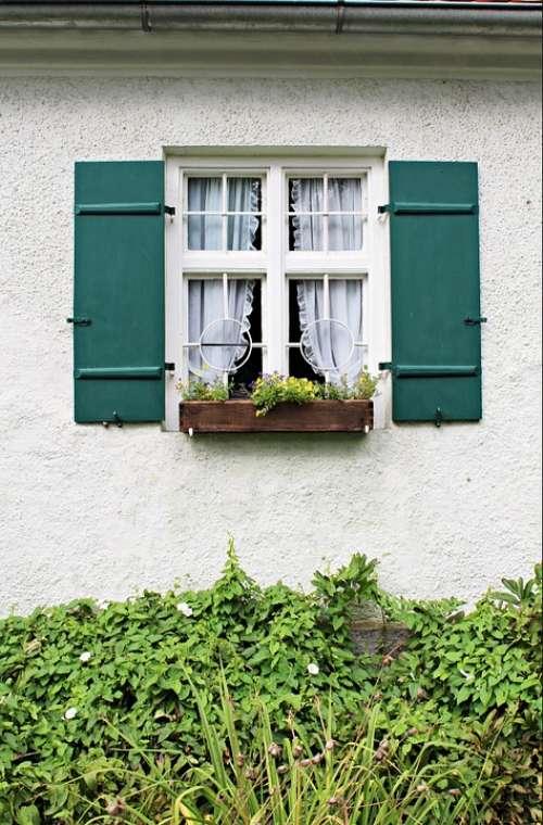 Window Farmhouse Building Cottage Garden Romantic