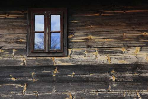 Window Old Wooden House Nature Architecture