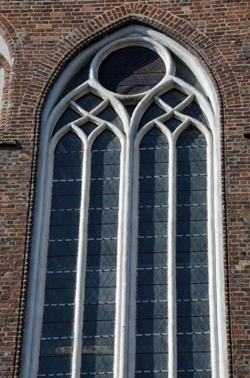 Window Gothic Church Brick Gothic Brick Church