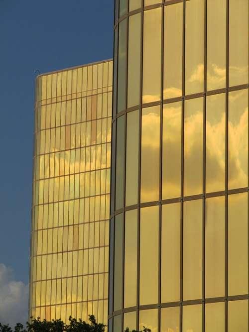 Windows Dallas Skyline Buildings Office Buildings