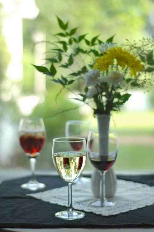 Wine Flowers Tasting Taste Beverage Background