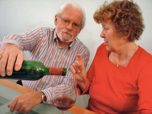 Wine Drink Wine Glass Give A Wine Bottle Red Wine