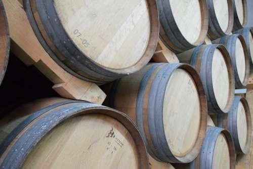 Wine Barrels Winery Wood Storage Vineyard Vine