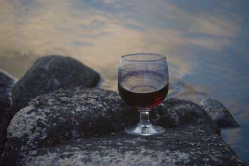 Wine Wine Glass Outdoor Nature Summer Beautiful