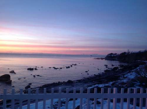 Winter Sea Sky