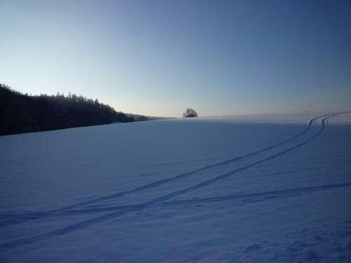 Winter Snow Cold Traces White Snow Magic