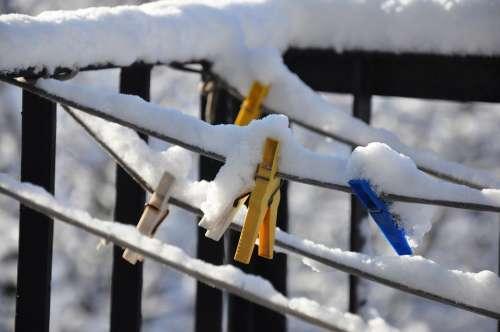 Winter Paper Clips Biel Snow