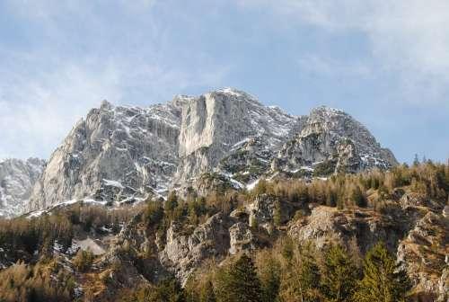 Winter Berchtesgaden Rock Upper Bavaria