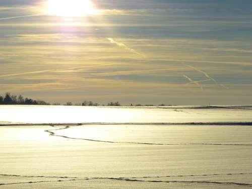 Winter Snow Landscape Snowy Wintry Sun