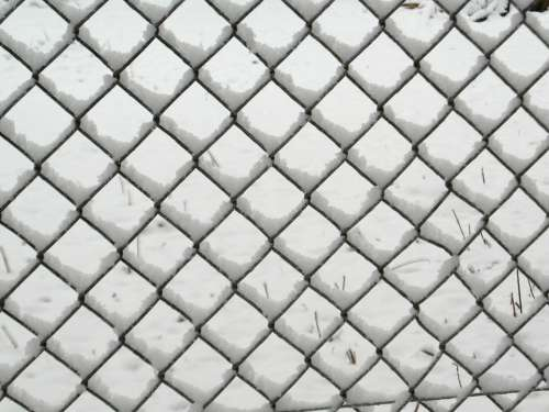 Wire Mesh Fence Winter Snow Snowy Fence Blocked
