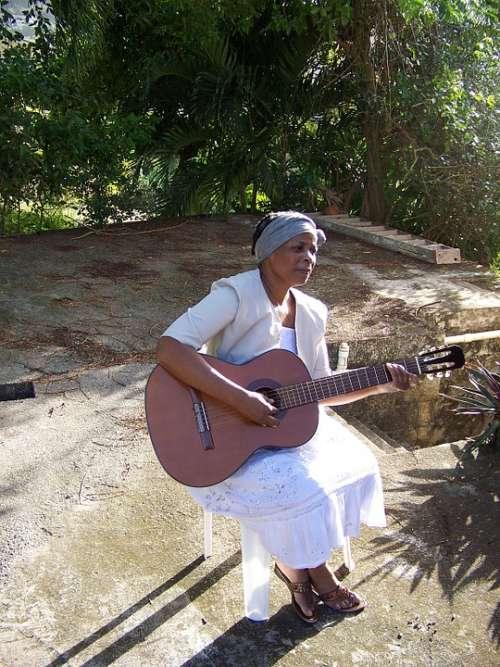 Woman Guitar Female Singing Musical Playing Guitar