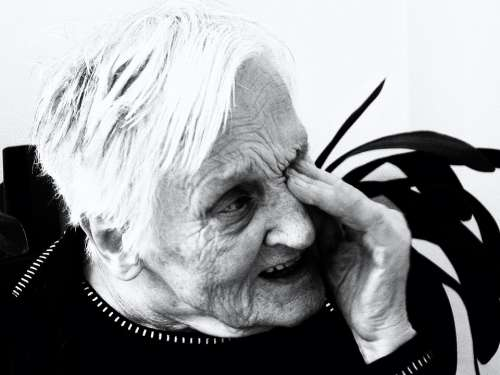 Woman Old Sad Confused Dependent Dementia Age