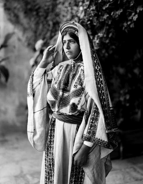 Woman Costume Traditionally Garment Ramallah Dress