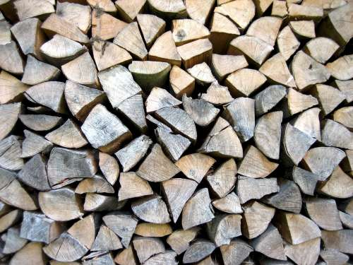 Wood Wood Pile Firewood Combs Thread Cutting