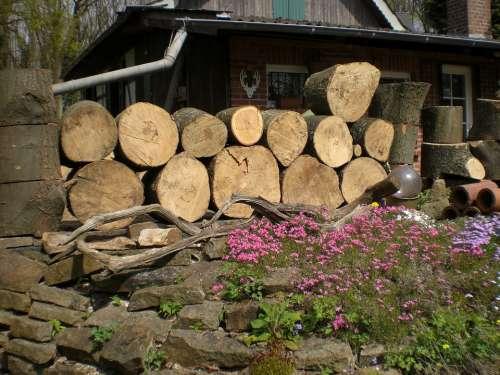 Wood Strains Timber Holzstapel Firewood