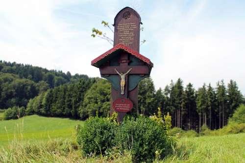 Wood Wayside Cross Cross Memorial War World War