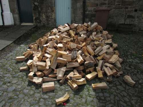Wood Woodpile Firewood Lumber Stack Timber Log