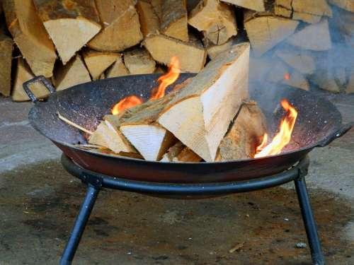 Wood Fire Fire Grill Flame Burn Heat Embers