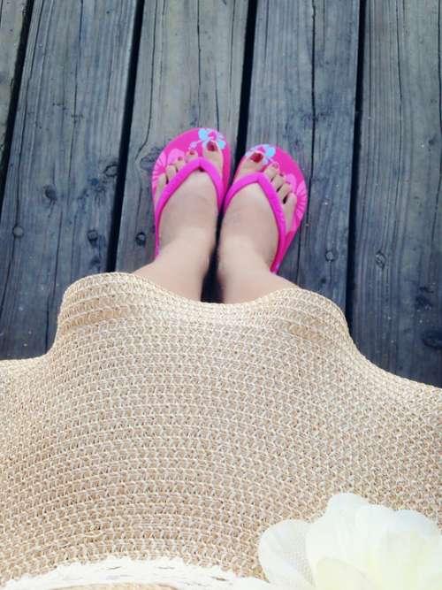 Wood Flooring Feet Flip Flop