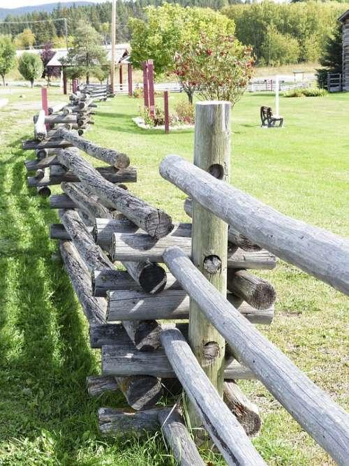 Wooden Fence Landscape Heritage Wild West