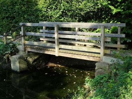 Wooden Bridge Bridge Water Nature Boardwalk