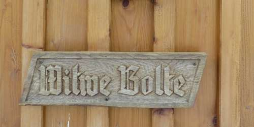 Wooden Sign Fairy Tales Widow Bolte