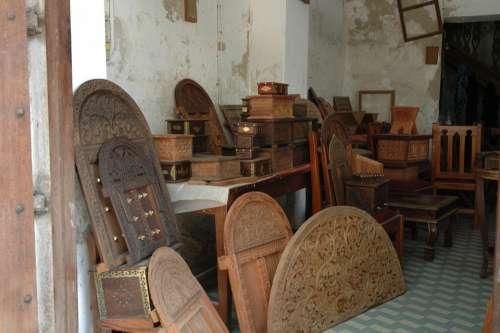 Woodwork Woodcarving Door Workshop Zanzibar