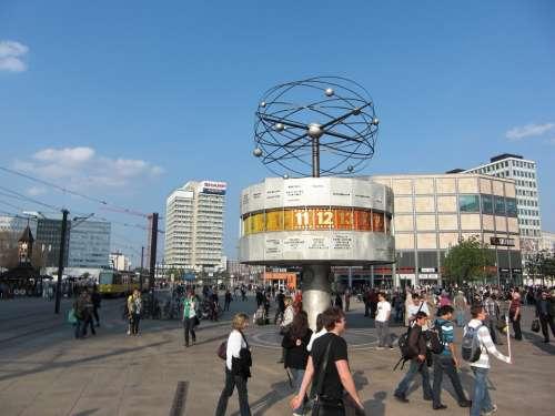 World Clock Berlin Alexanderplatz Capital