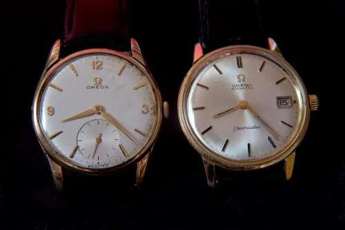 Wrist Watches Old Hard Worn Gold Case
