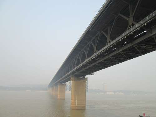 Wuhan Yangtze River Bridge Building The Yangtze River