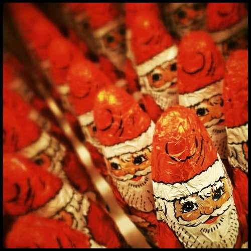 Xmas Christmas Focus Santa Claus Chocolate Males