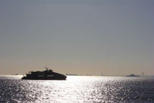 Yacht Ship Istanbul Boat Sea Luxury Backlighting