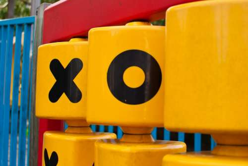 Yellow Red Children Tictactoe Tic Tac Toe Game