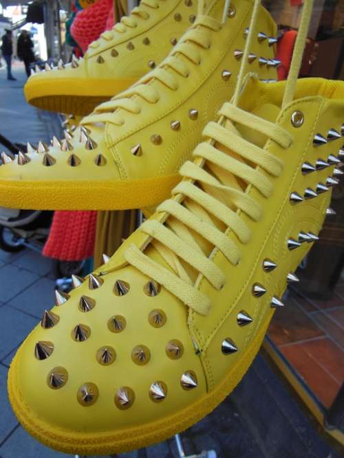 Yellow Boots Sports Boots Fashion Spring Fashion