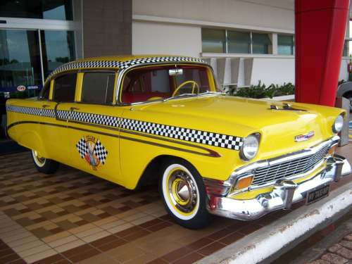 Yellow Cab Taxi Yellow Car Old Car Old Cars