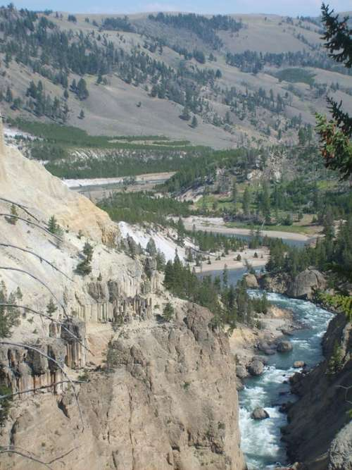 Yellowstone National Park Nature Outdoors River