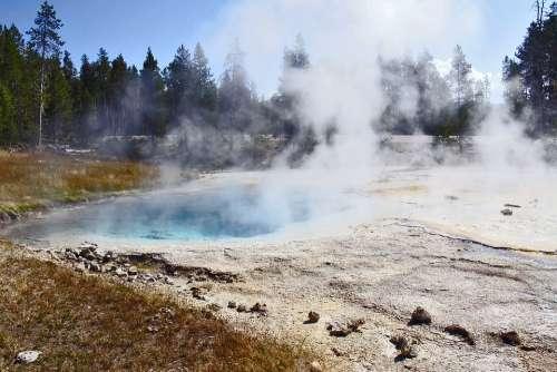 Yellowstone National Park Wyoming Usa Landscape