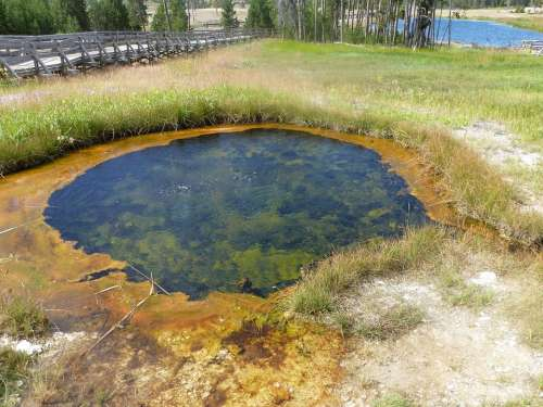 Yellowstone National Park Geyser Crater Nature