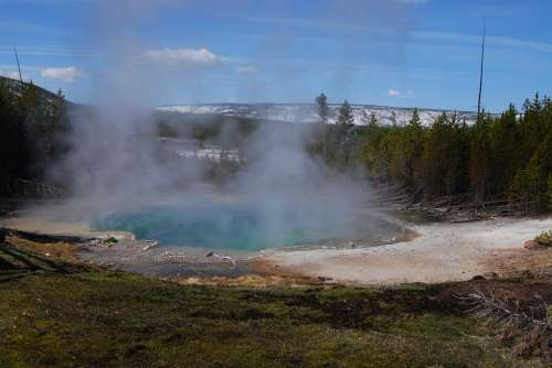 Yellowstone Park Water National Park Nature