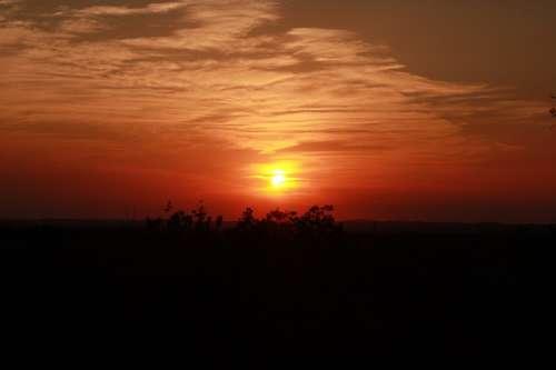 Yoga Sunset Meditation Nature Dawn