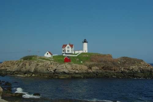 York Maine York Maine America Ocean Water Usa