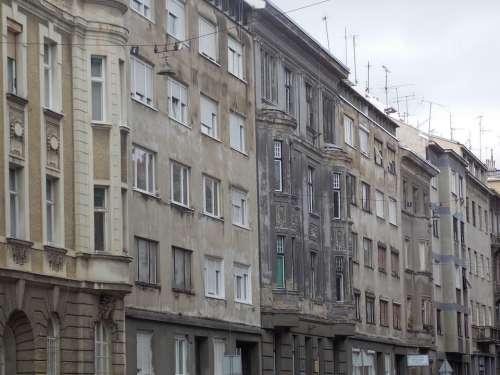 Zagreb City Croatia Architecture Building Street