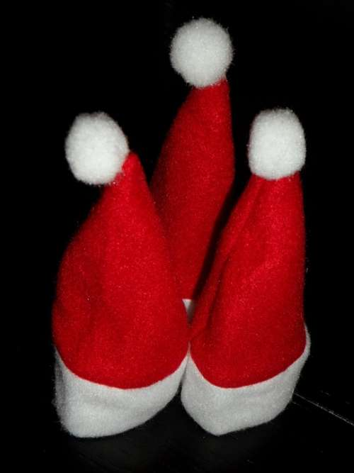 Zipfelmützen Santa Claus Three Decoration Christmas