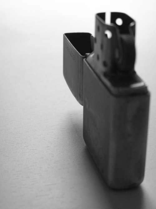 Zippo Macro Lighter Black And White Shadow