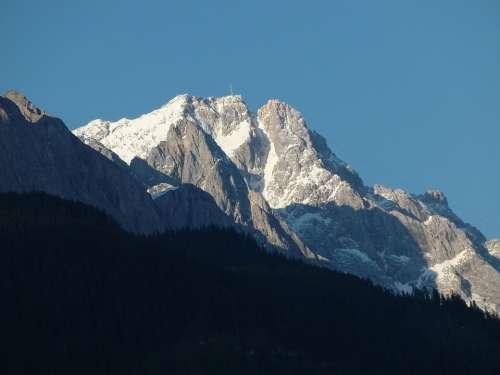 Zugspitze Mountain Mountain Range Distant View