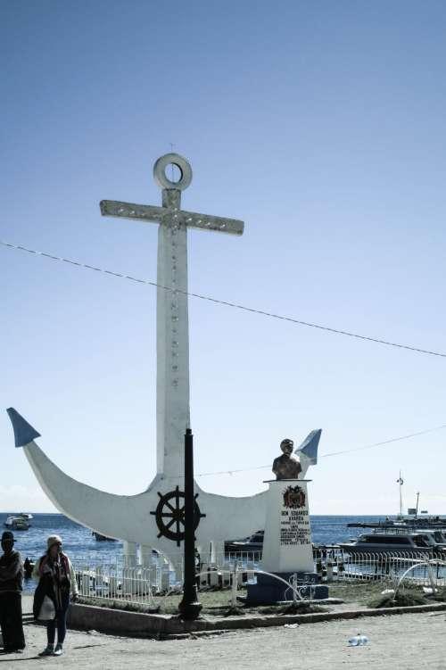 Anchor at Copacabana, Bolivia