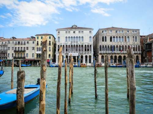 Venetian houses, Venice, Italy.