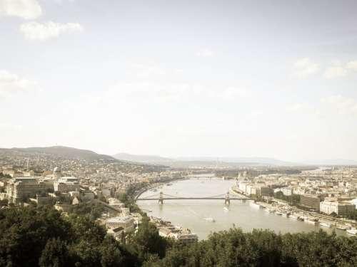 View of Buda and Pest, Budapest, Hungary.