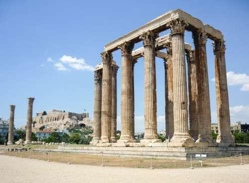 Temple of Zeus, Olympia, Athens, Greece.